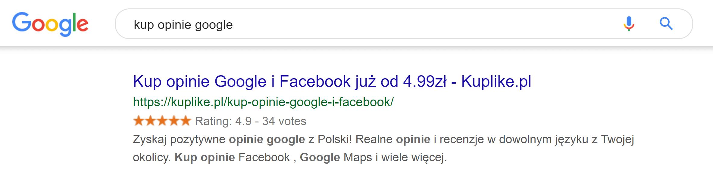 gdzie kupić opinie google