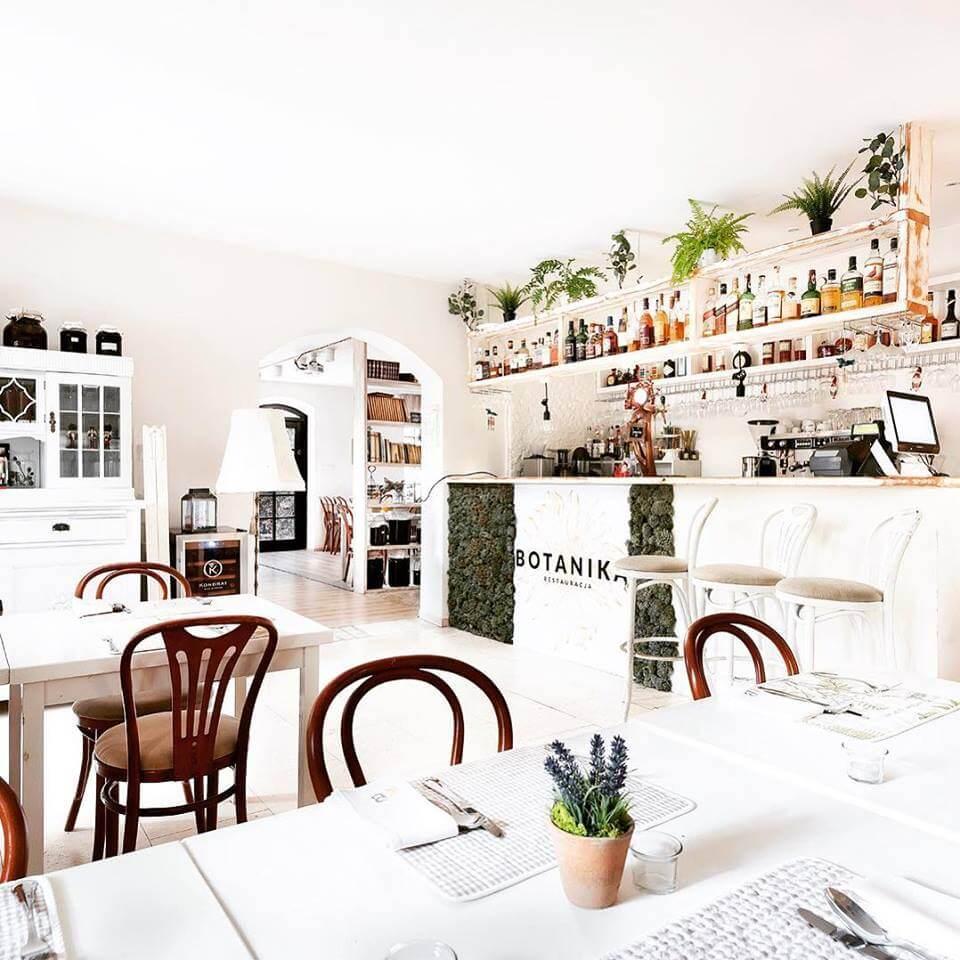 jak wygląda restauracja botanika